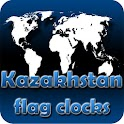 Kazakhstan flag clocks icon