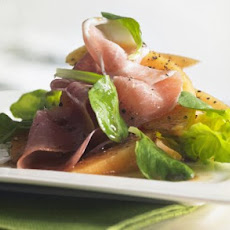 Wolfgang Puck's Cantaloupe Salad With Prosciutto & Ice Wine Dressing