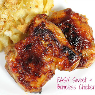 Sweet and Spicy Boneless Chicken Thighs