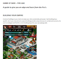 Screenshot of Game of War: GUIDE