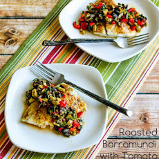 Roasted Barramundi with Tomato and Olive Relish