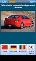 Screenshot of World Cars Quiz
