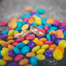 The Rings by Laurence Bernabe - Wedding Details ( chocolate, wedding, rings, gold, object, artistic, jewelry )
