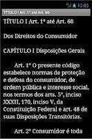 Screenshot of Código de Defesa do Consumidor