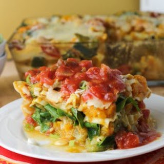 Winter Vegetable Lasagna with Marinara Sauce