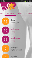Screenshot of BeFit Fitness Trainer
