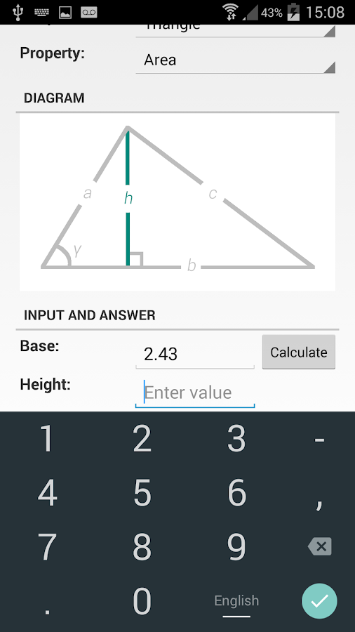 Shape Calculator Screenshot 2