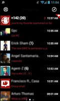 Screenshot of GOSMS WP7 Red Theme Free