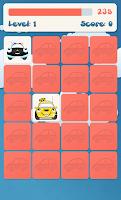 Screenshot of Cars memory game for kids