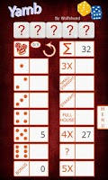 Screenshot of Wolf's YAMB Yacht dice game