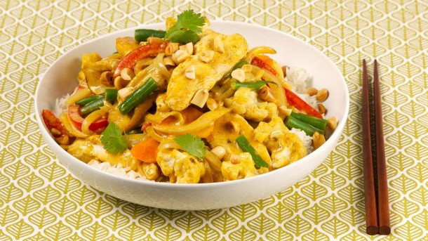 Peanut, Chicken and Cauliflower Curry Stir-Fry CBC Best Recipes Ever ...