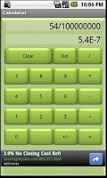Screenshot of Basic Calculator (Green)