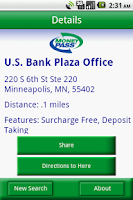 Screenshot of MoneyPass ATM Locator
