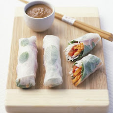 Crystal Herb Rice Paper Rolls With Peanut Sauce