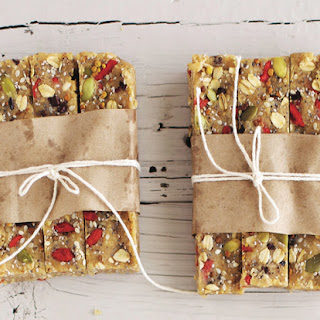 The Vibrant Table's Hazelnut Cacao Goji Halva Bars