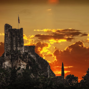 sunset by Boris Romac - Landscapes Sunsets & Sunrises ( sunset, croatia, coguar, omiš )