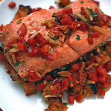 Dinner Tonight: Salmon with Deconstructed Romesco Sauce