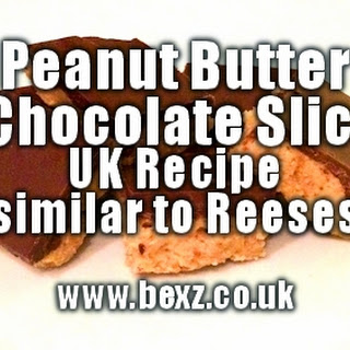Peanut Butter & Chocolate Slices UK Recipe (Similar to Reese's)