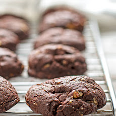 Double Dark Chocolate Hazelnut Cookies