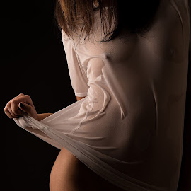 Wet by Tomas Fensterseifer - Nudes & Boudoir Artistic Nude ( torso, bodypart, white shirt, wet )