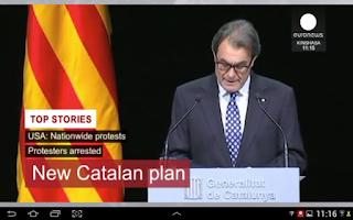 Screenshot of euronews LIVE