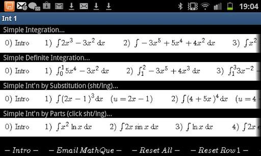 Integration Integral Practice