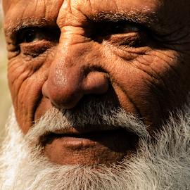 Sadiq by David Ubach - People Portraits of Men ( pakistani, white, beard, elderly, portrait, man )