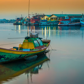 Fishing harbur by Mario Dours - Transportation Boats ( rayong, 2013, pak nam, travel, photography )