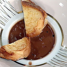 Mascarpone Brioche Sandwiches with Chocolate Soup