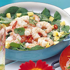 Prawn & Spinach Salad With Lime Honey Dressing