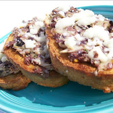 Tapenade-Artichoke Hearts on French Bread