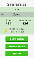 Screenshot of Hues Game - Threes Powered up!