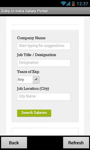 Zuby.in India Salary Portal
