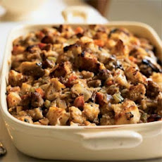 Sourdough Stuffing with Pears and Sausage