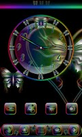 Screenshot of Butterfly Rainbow Clock Widget