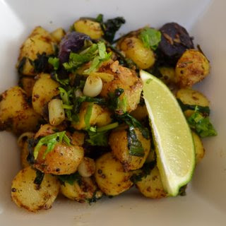 Ramps & fingerling potatoes curry.- an Indian Ramp Tramp contagion