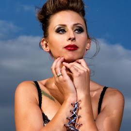 Tied up by Jeroen Gordijn - People Body Art/Tattoos ( model, corset, sunshine, piercings, skin )