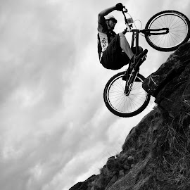 by Kayleigh Tocock-McCaw - Sports & Fitness Other Sports ( bike, riding, black and white, photography, portrait )