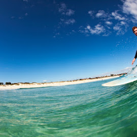 Ryan Trigg Beach by Michael PhotoTraeger - Sports & Fitness Surfing ( water, perth, color, housing, longboard, surf )