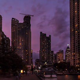 Toronto blue hour by Jack Brittain - City,  Street & Park  Skylines ( harbourfront, skyline, canada, toronto, night, ontario, architecture, light )