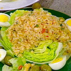 Portuguese Rice and Salt Cod Salad