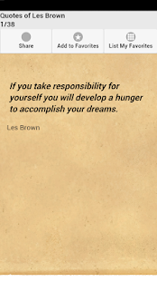 Quotes of Les Brown - screenshot