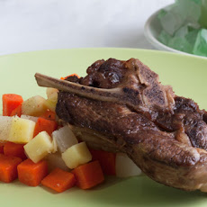 Braised Lamb Shoulder Chops with Root Vegetables