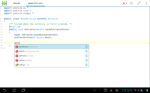 aide-android-ide-java-c for android screenshot