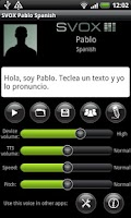 Screenshot of SVOX Spanish Pablo Trial