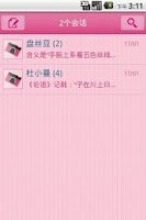 Screenshot of Easy SMS Pink Camera theme
