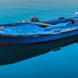 blue boat by Eseker RI - Transportation Boats (  )
