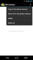 Screenshot of SIM Manager