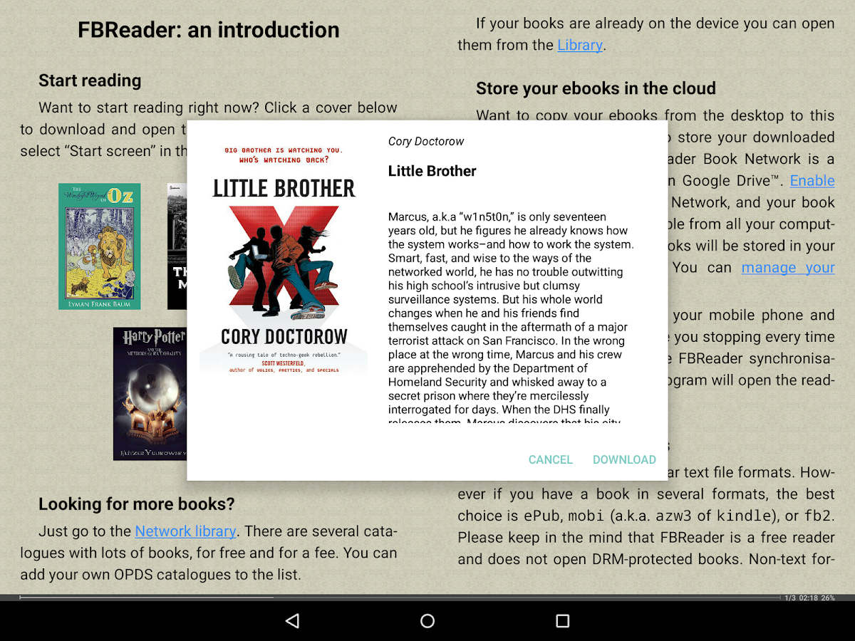 FBReader: Favorite Book Reader Screenshot 8