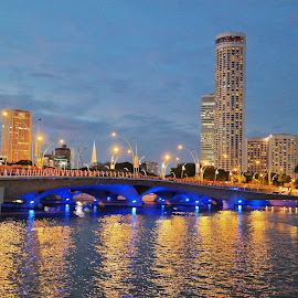 Bridge across the river by Koh Chip Whye - Buildings & Architecture Office Buildings & Hotels (  )
